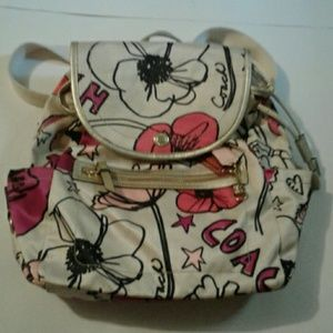 Coach Flower Backpack Bag